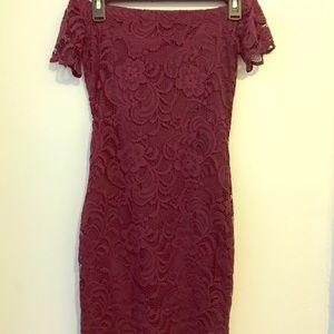 Off the shoulder laced dress
